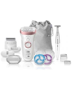 Braun 9980 Silk-epil 9 SkinSpa SensoSmart Epilator 4 in 1 Exfoliation Skin Care System