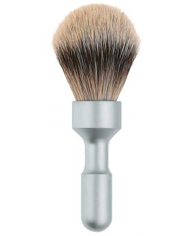 Merkur Futur Badger Hair Shave Brush Matt Chrome 1700