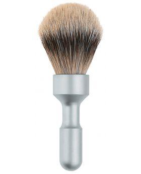 Merkur Futur Badger Hair Shave Brush Matt Chrome 1700