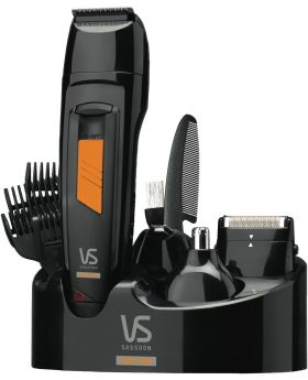 VS Sassoon Metro Carbon Titanium All-in-One Hair Grooming System 14pc - VSM7056A