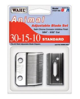 Wahl 30-15-10 Replacement Blades Set For Show Pro Animal Clipper + Oil WA1037-400