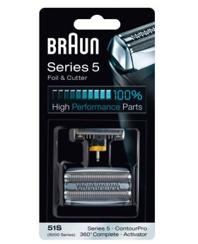 Braun Series 5 51S / 360° Complete / Activator series 8000 Foil and Cutter Set