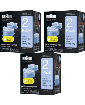 Braun Clean & Renew Refill Cartridge - CCR2 (6x Refill Units)