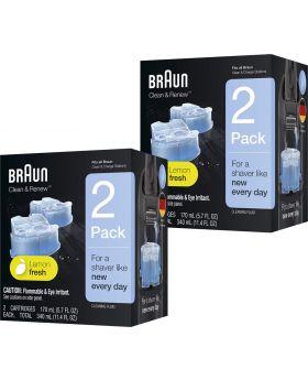 Braun Clean & Renew Refill Cartridge - CCR2 (4x Refill Units)