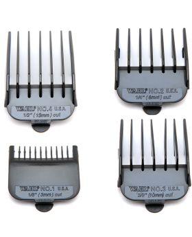 Wahl Black Clipper Comb Attachment Guides #1 to #4 WA3161