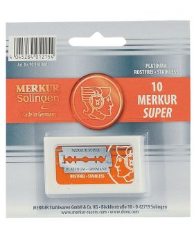 10x Merkur Super Platinum Double Edge Safety Razor Blades