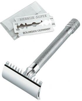 Merkur 25C Long Hanlde Open Comb Double Edge Safety Razor