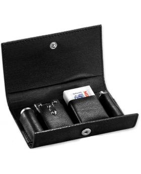 Merkur 46C travel Double Edge Safety Razor + Leather Case