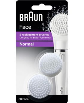 Braun Face SE80 Facial Epilator Replacement Cleansing Brushes - Pack of 2